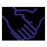 Shaking hands symbol